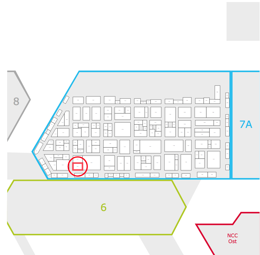 Floor Plan for our stand at the European Coatings Show
